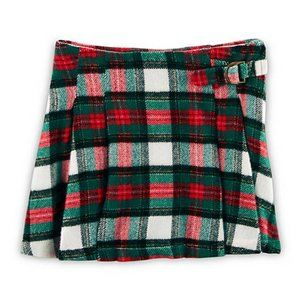 CARTER'S Girl Pleated Flannel Skirt   7 YRS NWT